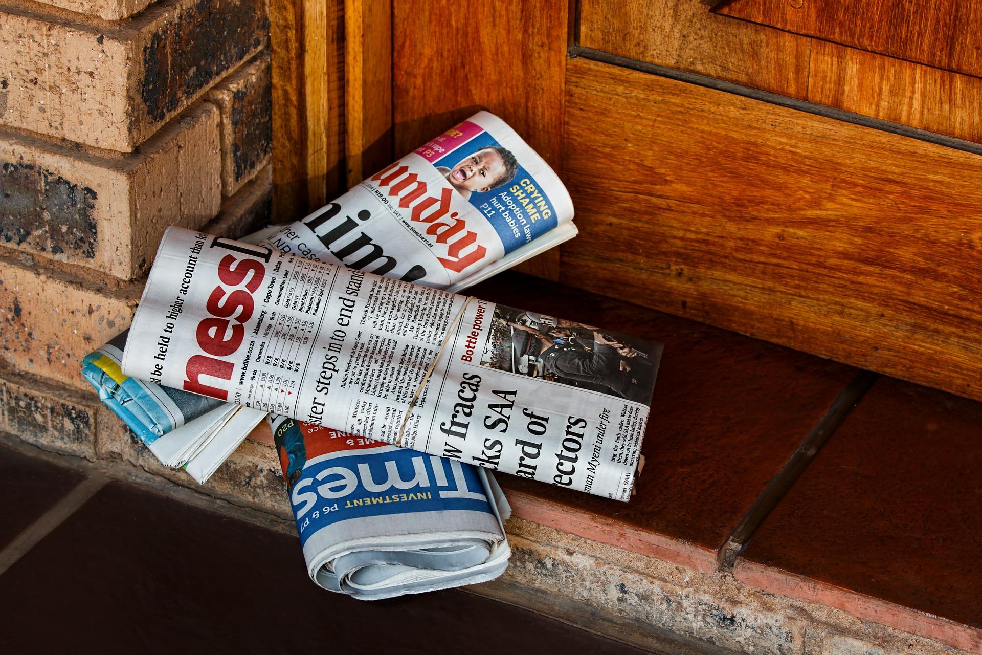 新聞を電子版にすれば、年間約○○○kgのCO2削減につながる。
